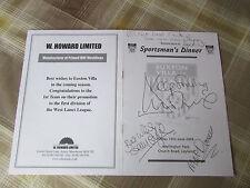 Duncan McKENZIE & Others 2003 FOOTBALL Legend Original Hand Signed Menu