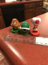 Lot Of 3 Mario Chess Figure Pieces Rook Toad Goomba Shell Pawn FREE SHIPPING