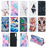 For Samsung A70 A50 A40 M30 M20 Flip Painted Leather Case Magnetic Wallet Cover