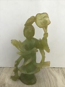"""Chinese Vintage Antique Jade Carving 8""""s"""