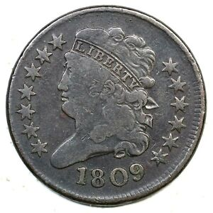 1809 Classic Head Half Cent Coin 1/2c