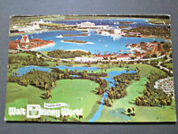 vTg 1971 Florida Walt Disney World resort Aerial View Park Pre Opening Postcard