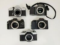 Joblot of 35mm Film Cameras; Minolta, Carl Zeiss Jenaflex, Yashica, Praktica