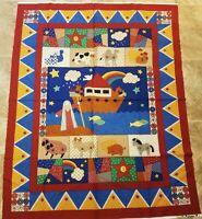 Elizabeth/'s Studio Noah/'s Ark /& Animals Religious Scene 24 Fabric Panel