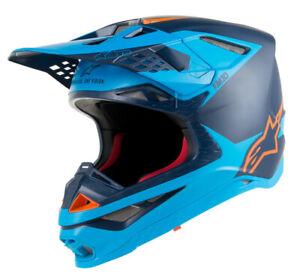 Alpinestars Supertech M10 Blue Orange Helmet