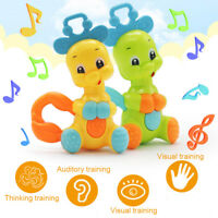 Baby Cartoon Giraffe ABS Plastic Shaking Rattles Bell Early Educational Toy Gift