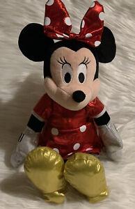 "Minnie Mouse TY's Beanie Buddy Sparkle Minnie Red Large 14"" Plush"