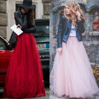 Multi Layers Long Womens Tulle Skirt Princess Celebrity Skirts Party Prom Dress