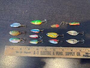 1 Dozen Fishing Lures -- Dardevle, Kamlooper, Little Cleo (among others)