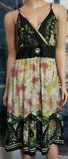 Women Sassy Doll Creations Sz L Dress Multicolor Spaghetti Strap Boho Hippie D44