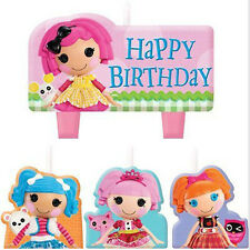LALALOOPSY MINI CANDLE SET (4pc) ~ Birthday Party Supplies Cake Decorations