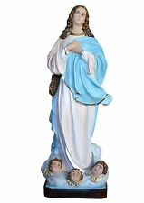 Virgin Mary assumption by Murillo fiberglass statue cm. 157 with glass eyes