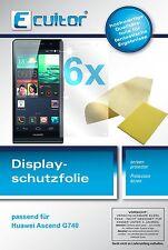 6x Huawei Ascend G740 Film de protection d'écran protecteur cristal clair