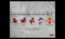 Iowa State Cyclones EVOLUTION OF THE CYCLONES Logo Premium NCAA Poster Print