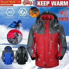 Mens Warm Hiking Jackets Waterproof Winter Coat Hooded Mountain Working Jacket