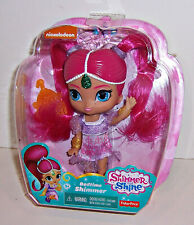 "FISHER PRICE SHIMMER & SHINE ""BEDTIME SHIMMER"" Genie DOLL 6"" Comb & Stickers NEW"