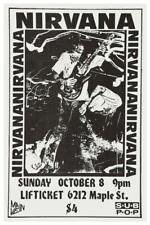 Nirvana - POSTER  - Bleach US 89' concert TOUR - Kurt Cobain  - Sub Pop Records