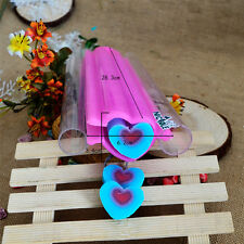 Big Heart Silicone Soap Moulds Making Tools Tube Pipe Craft Clay Cutter Molds