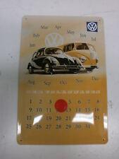 VW Vintage Beetle Van Volkswagen Licensed Metal Calendar 20x30cms Great Present