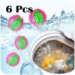 6pcs Reusable Hair Catcher Washing Lint Laundry Balls Tools Clothing Care