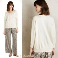NWT Anthropologie Josefine Cream Sweater By Atelier Camille Size XS Retail $118