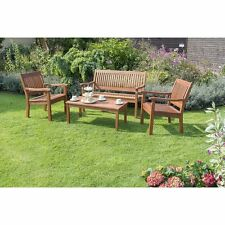 Outdoor Garden Sofa Sets 4 Seater Armchairs Bench Cofffee Table Wooden Furniture