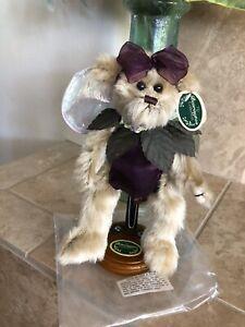 "Bearington Bears BELLE #1405 2002 10"" Fairy Bear Purple Outfit 🐻 Brand New"