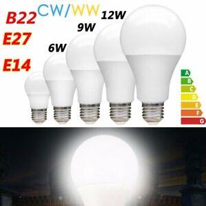 1/4PCS B22/E14/E27 3W-18W Day Light/Warm White Golf Ball Globe Lamp LED Bulbs