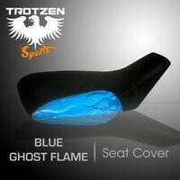 Polaris Predator 50  Blue Ghost Flame MotoGHG Atv Seat Cover