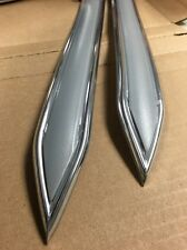 "Vintage type 1 1/4 "" 1.25""  Silver with Chrome body side molding pointed ends"