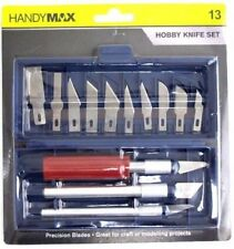 13pcs Hobby Knife Kit Set Modelling Penknife Blades Arts Craft Knives Knifes
