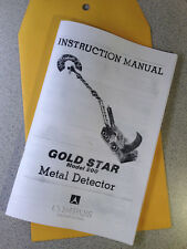 Compass Metal Detector Instruction Manual Gold Star 200 Find Treasure Coin Hobby