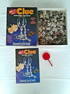 DIAMONDS ARE DEADLY 1993 Clue Mystery Puzzle 500-Piece *100% Complete*