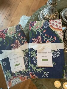 Set Of 2 POTTERY BARN BLANCA REVERSIBLE SHAM KING New In Packaging