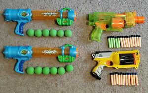 Huge Lot 4 Nerf Guns x2 Reactor Maverick & Barricade w/ Ammo Darts + Bonus Gear