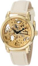 Akribos XXIV AK431YG Automatic Yellow Gold Plated Skeleton Womens Watch