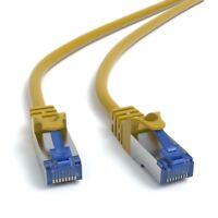 10m CAT 7 Patchkabel Netzwerkkabel Ethernetkabel DSL LAN Kabel  - GELB