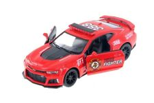 "5"" Kinsmart 2017 Chevrolet Camaro ZL1 Fire Vehicle Diecast Model Toy 1:38 Scale"