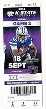 2014 KANSAS STATE WILDCATS VS AUBURN TIGERS TICKET STUB 9/18/14 FOOTBALL