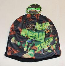 Teenage Mutant Ninja Turtles TMNT Boys Black Printed Beanie Size 4 - 6 New
