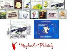MONTENEGRO/2018, COMPLETE YEAR SET (STAMPS AND BLOCKS), MNH