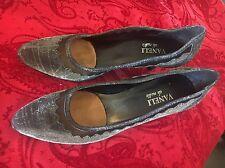 Womens Shoes Vaneli Di Notte Slip On Pump High Heels Silver Sparkle Size 8.5
