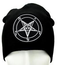 Sabbatic Baphomet Goat Head Beanie Occult Clothing Knit Cap Heavy Metal Ritual