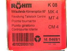 Mitlaufende Körnerspitze MK 4 von Röhm, Typ K 08, schlanke Ausführung