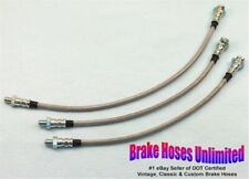 STAINLESS BRAKE HOSE SET Studebaker Golden Hawk 1956 1957