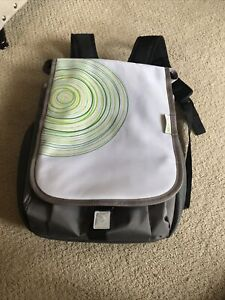 XBOX 360 SYSTEM GAMES ACCESSORIES BACKPACK WHITE GREY BLACK TRAVEL BAG BACKPACK!