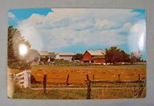 An Amish Farm In Amish Country Golden Fields After Grain Harvest Postcard (O)