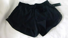 "Lululemon Hotty Hot Short Black 4"" Speed Turbo Yoga Shorts Mesh Size 10 New"