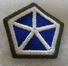 1950'S GERMAN MADE OD BORDER 5TH ARMY CORPS EMBROIDERED WITH BLACK BACK CUT EDGE