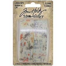 Tim Holtz Idea-Ology Linen Tape Floral Th94139 New